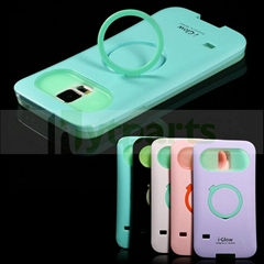 Glow in the Dark Dual Tone Hybrid Case with kickstand for Galaxy S5
