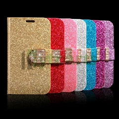 Luxury Bling Sequin PU Leather Magnetic