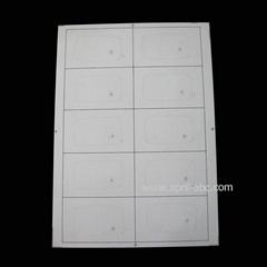 13.56 MHz Cards Material IC Mifare Inlay S50 1k Inlay Sheet 2*5 RFID Card Inlay