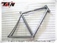 custom sand blasting titanium Cyclocross frames with couple