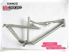 Ti3AL2.5V titanium full suspension frame