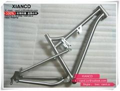 26er full suspention titanium mountain bike frames with all time warranty