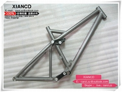 full suspention titanium mountain bike frames with all time warranty