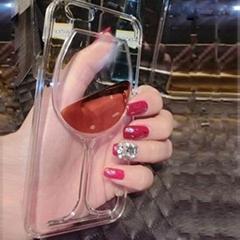 Flowing Red Wine Liquid Case for iPhone 5 5S 6 6Plus