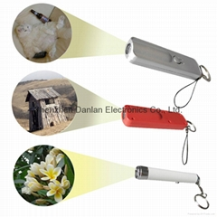 Plastic Projection Flashlight Torch with Keychain for Promotion