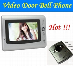 Free Shipping wire remote control open lock intercom video door bell phone