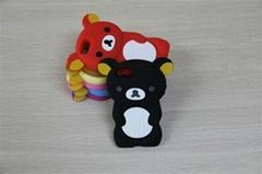 新款热销立体轻松熊硅胶手机保护套
