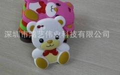 新品泰迪熊iphone5G硅胶套
