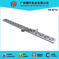 Fashion Design AISI304/316 Stainless Steel Decorative Long Floor Drain
