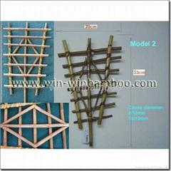 Garden bamboo trellis for horticulture