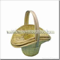 Knotwork bamboo basket