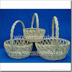 Wicker basket for garden or for home decorations