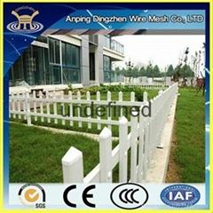 Plastic white garden fence