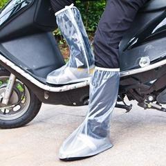 Waterproof men`s motorcycle PVC high boot cover