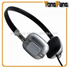 HP-6002 fashion mini headphone with gold surface
