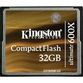 Kingston CompactFlash-Ultimate 600x CF/32GB-U3 Flash Card 1