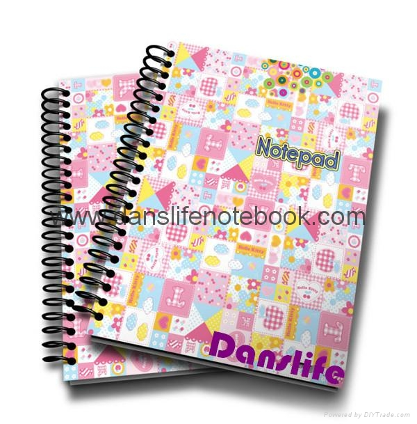 Printed cover wire-o notebook_China printing factory 4
