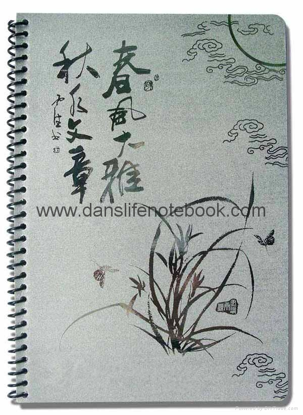 Printed cover spiral notebook_China printing factory 3