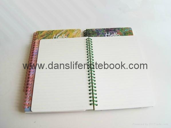 Printed cover spiral notebook_China printing factory 4