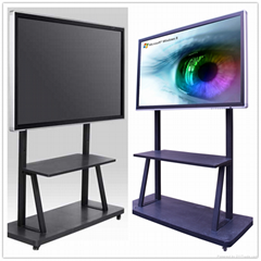 "82""touch screen monitor mounted to a wall or floor stand"