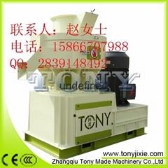 行業首創循環油潤滑生物質環模顆粒機TYJ450-III