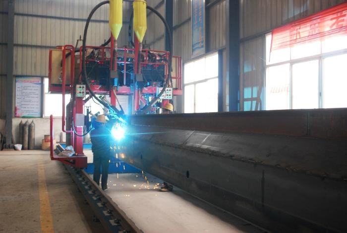 国标单梁起重机一次成型龙门自动焊  装备