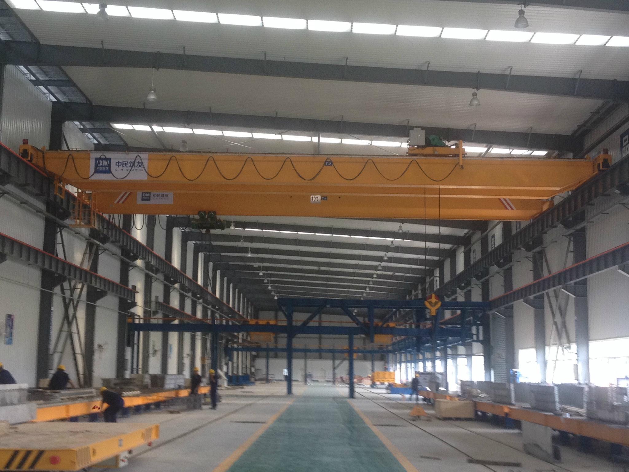 Electric hoist double beam bridge crane