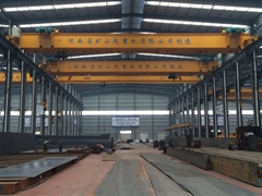 Double hoist beam crane