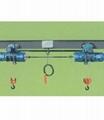两个电动葫芦能够实现机械联动同升同降,能够实现用户的特殊需求