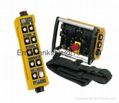 Handle type and rocker type radio remote control