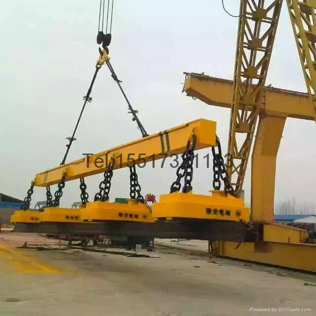 Rotating electromagnetic hanging bridge crane ql for Motorized rotating crane hook