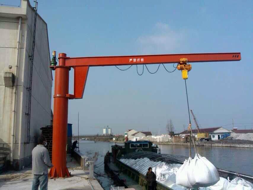 运河码头--环链葫芦--旋臂起重机
