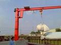 運河碼頭--環鏈葫蘆--旋臂起重機--裝卸船隻貨物