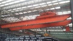 Rotating electromagnetic hanging bridge crane