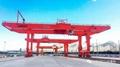 河南矿山为兰州国际港务区设计制造的轨道式集装箱门式起重机