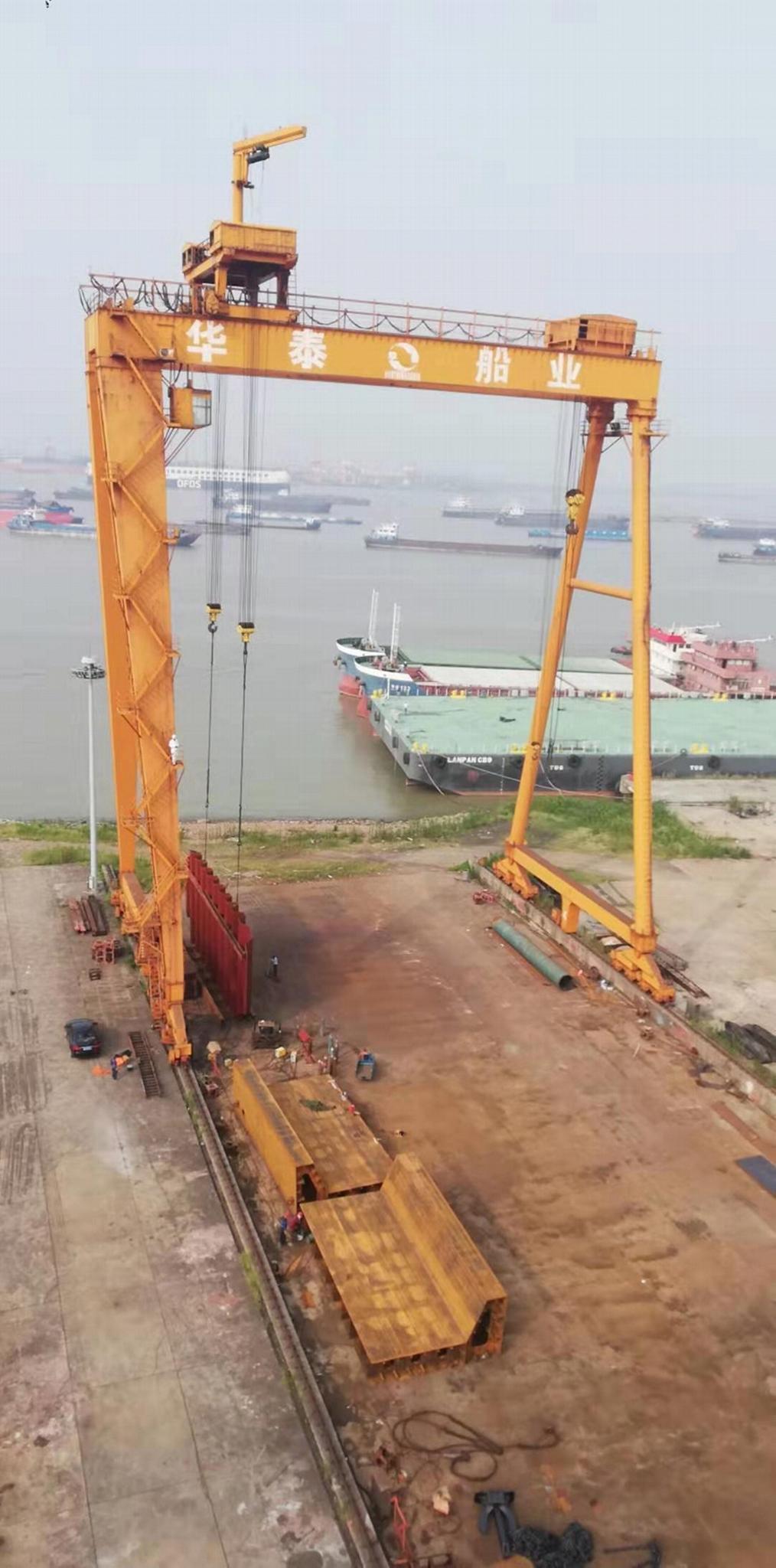 矿山造船门式起重机 造船龙门 4