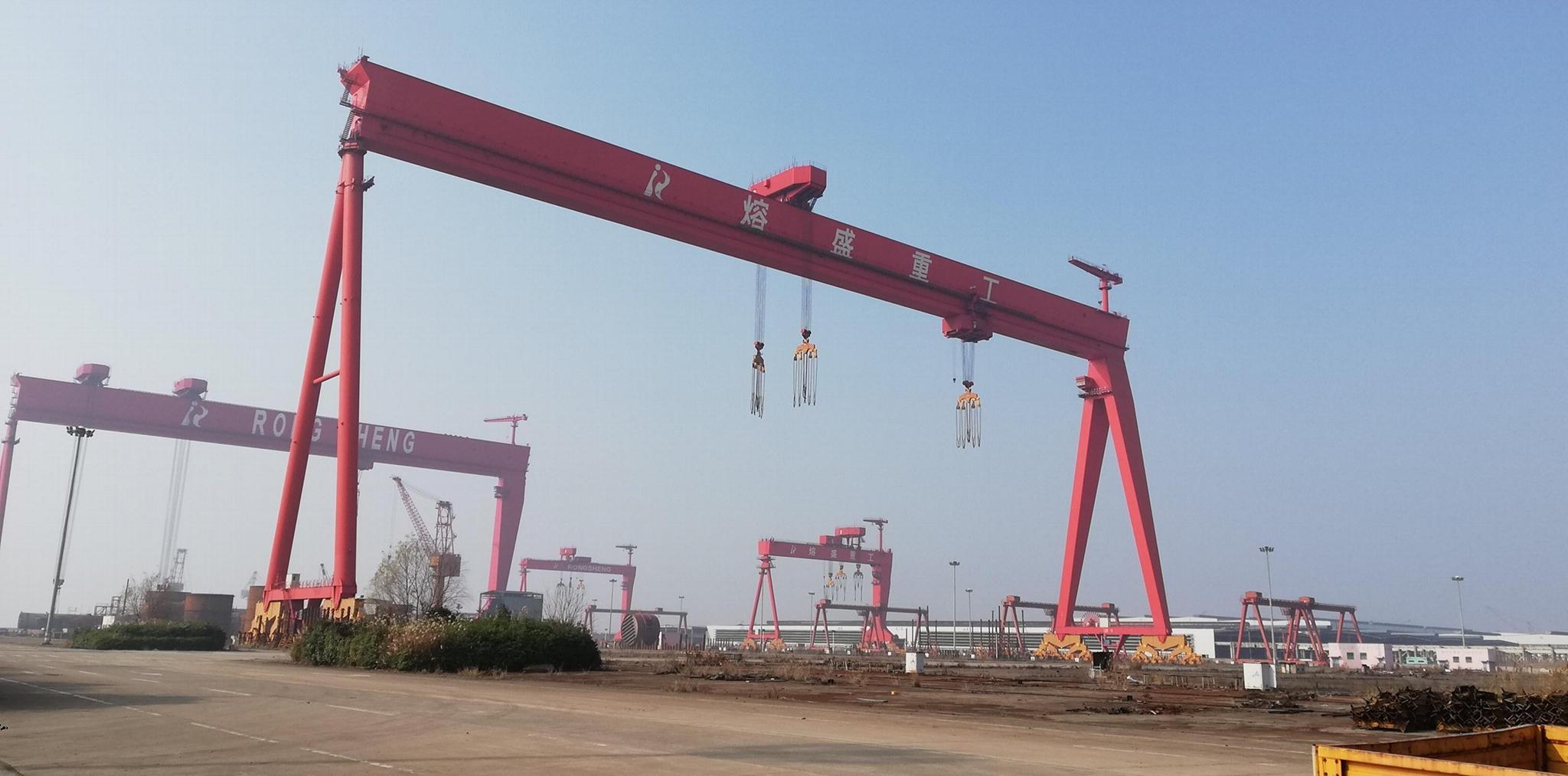 矿山造船门式起重机 造船龙门 5
