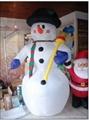 White Christmas Season Inflatable