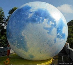 Sky Blue  Inflatable ground balloon  with Led Light