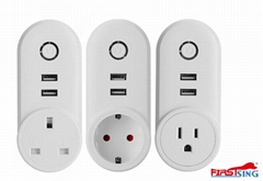 Firstsing 2 USB Smart Plug Wifi Smart Socket APP Remote Control Smart Home