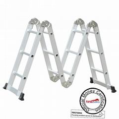 Firstsing 3.7M Multipurpose Aluminum Alloy  Ladder Portable Foldable Ladder