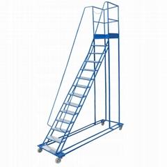Mobile Ladder Warehouse 13+1 Steps