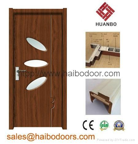 Cheap interior mdf pvc doors hbw 010b huanbo china for Cheap pvc door