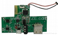 Portable memory card speaker