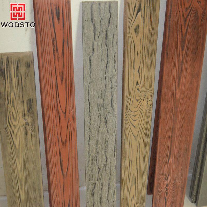 Brushed Wood Plastic Composite Waterproof Panels For Outdoor Garden 2