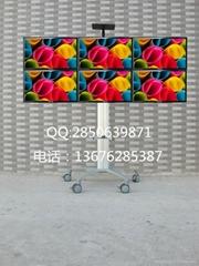 挂六屏电视机显示屏移动支架14-26寸
