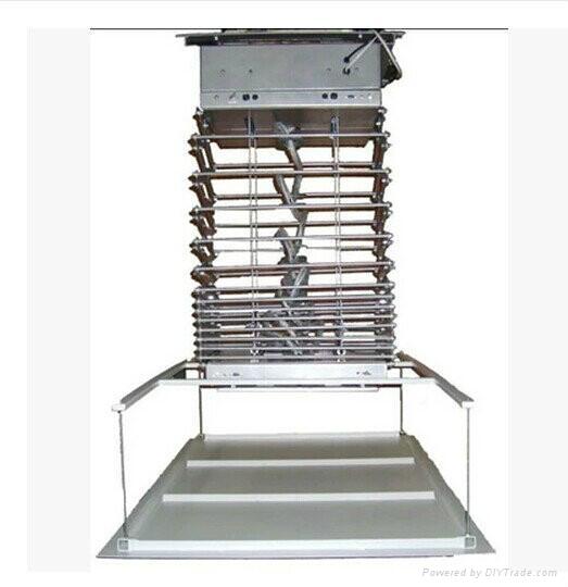加固投影机天花吊架电动遥控行程吊架 1