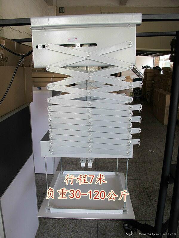 加固投影机天花吊架电动遥控行程吊架 2