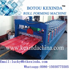 Glazed cold steel roof tile roll forming machine