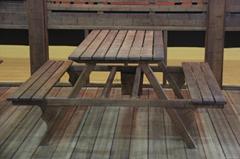 浅碳化户外竹木地板
